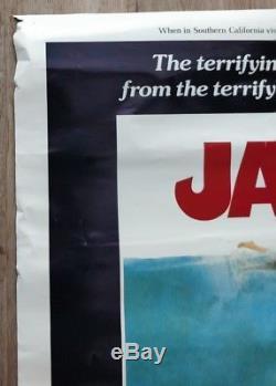 JAWS 1975 Original Vintage Poster. PG version