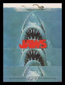 JAWS 1975 UNIQUE TEASER MOVIE POSTER RARE Pre-Censored NIPPLE-POPPING ART