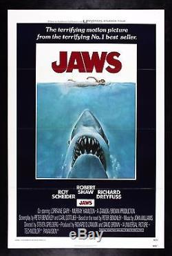JAWS CineMasterpieces ORIGINAL MOVIE POSTER 1975 UNUSED SHARK HORROR