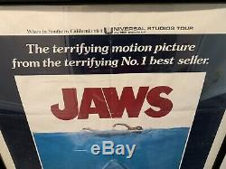 JAWS Original One Sheet Folded Movie Poster 1975 SPIELBERG Amazing Condition