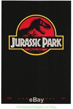 JURASSIC PARK MOVIE POSTER Original SS 27x40 Red Advance SPIELBERG Dinosaur 1993
