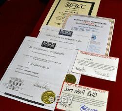 JURASSIC PARK Props, Signed SAM NEILL, DERN Autograph UACC, COA DVD, Frame +MORE