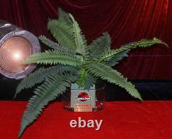 JURASSIC PARK Screen-Used Prop FERNS in VASE, Plaque, Logo, COA, DVD Blu Trilogy