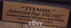 James Cameron Titanic Lifejacket with 20th Century Fox COA & Autographs withCOA