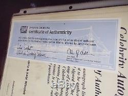 James Cameron Titanic Lifejacket with 20th Century Fox COA & Autographs withCOA