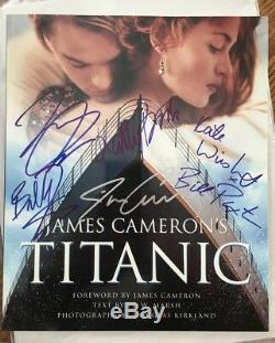 James Cameron's Titanic Book Certified Original Autographs from 6 Movie Stars