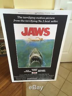 Jaws 1975 Original Movie Poster Vintage Authentic Steven Spielberg Shark Canvas