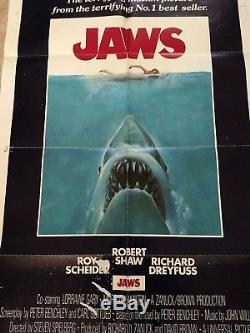 Jaws 1975 Original One Sheet Movie Poster