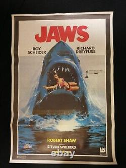 Jaws Original Movie Poster Turkish 1975 Rare Image Steven Spielberg