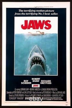 Jaws Steven Spielberg Shark Horror 1975 1-sheet Rolled Near Mint / Mint Unused