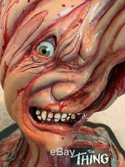 John Carpenter Signed 1982 The Thing Split Face Sculpture Prop Replica 1/1