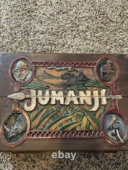 Jumanji Level one screen used hero board with pieces and Loa