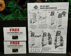 Jurassic Park Lost World 6' Floor Merchandiser Store Display 1997