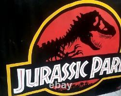 Jurassic Park Original 1993 Theater Displayed Vinyl Banner Movie 47 x 61 Inches