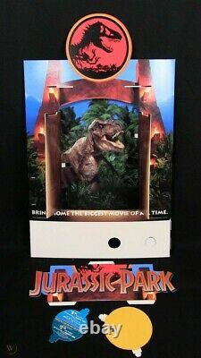 Jurassic Park Vhs Store Display With Lights, Opening Gates 1993 New