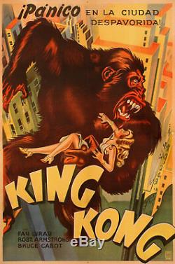 King Kong 1933 Argentine Poster