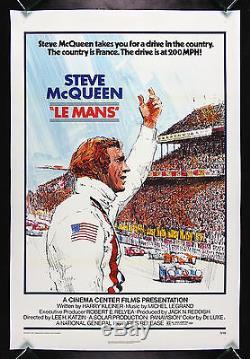 LE MANS LEMANS CineMasterpieces STEVE MCQUEEN ORIGINAL MOVIE POSTER 1971