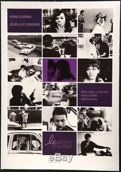 LE PETIT SOLDAT 20x29 linen-backed Jean-Luc Godard Anna Karina FilmArtGallery