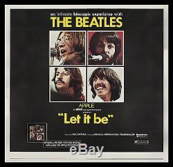 LET IT BE CineMasterpieces 6SH ORIGINAL HUGE MOVIE POSTER THE BEATLES 1970