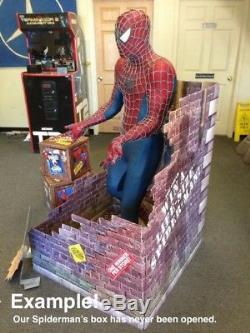 Life Size Blockbuster Video Spiderman with NEW IN Original Box /w Store Display