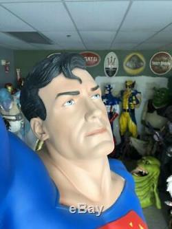 Life Size DC Comics Superman Statue Comic Book Version Full Size Prop 8'6