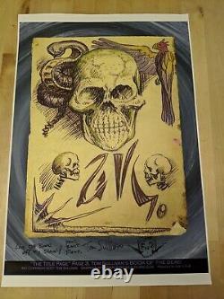 Lot of 3 Autographed Tom Sullivan Evil Dead posters Pages of Necronomicon