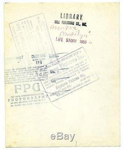MARILYN MONROE ORIGINAL VINTAGE 1953 GELATIN SILVER PHOTO BASEBALL GAME PRESS