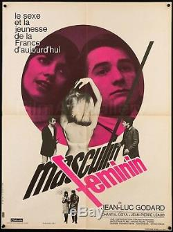 MASCULIN FEMININ 1966 French 23x31 poster Jean-Luc Godard Film/Art Gallery