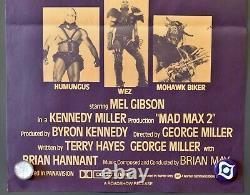Mad Max 2 Original 1981 Orange variant Australian daybill movie poster Gibson