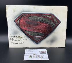 Man Of Steel Production Made Prop Paint Test Emblem With COA