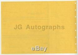 Marilyn Monroe Original, Vintage Personal Bank Checks Uncut Sheet of 3