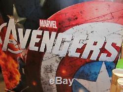 Marvel AVENGERS 2012 Original DS 5X8' TWO Vinyl Movie Theater Lobby Banner Set