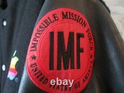 Mission Impossible Apple Computer 90s Vintage Black Bomber Crew Jacket Coat L