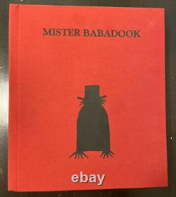 Mister BABADOOK Pop-Up Book with Original Box First Edition Rare Limited Kent