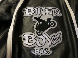 Movie Memorabilia Original Biker Boyz Genuine Leather Motorcycle Crew Jacket