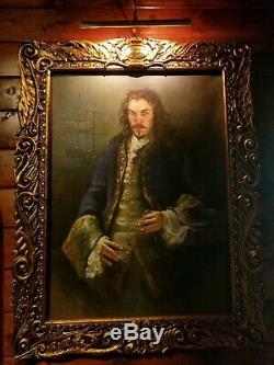 Movie Prop Captain James Hook Portrait Original Oil Painting on Canvas Peter Pan