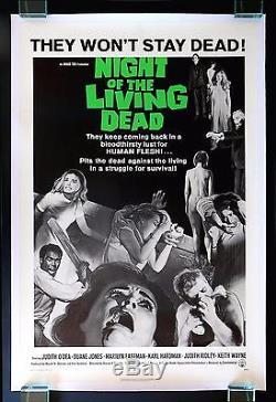 NIGHT OF THE LIVING DEAD CineMasterpieces ORIGINAL ZOMBIE HORROR MOVIE POSTER