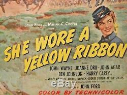 ORIGINAL 1949 John Wayne She Wore a Yellow Ribbon lobby Poster AUTHENTIC