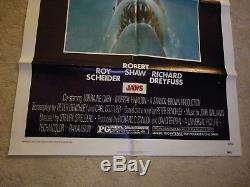 Original 1975 Universal Pictures JAWS One Sheet Movie Theater Poster 27x41