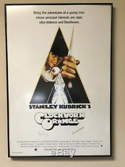 Original Clockwork Orange Film Poster Signed Stanley Kubrick & Malcom McDowell