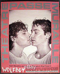 Original Keanu Reeves Wolfboy Kiss Poster Gay Interest Homoerotic Rare