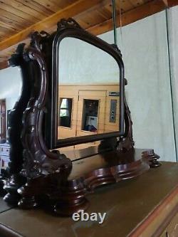 Original Screen Used Prop Antique Mahogany Vanity Mirror From Movie Peter Pan