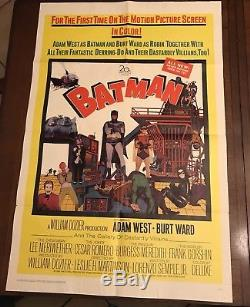 Original Vintage Batman 1966 one sheet color poster