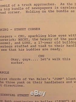 Original script #80 (Not a copy) from the movie RAD
