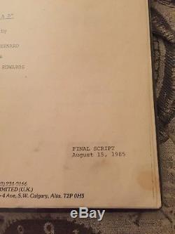 Original script #80 from the movie RAD