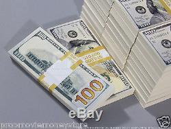 PROP MONEY New Style $100s, $260,000 Blank Filler For Movie, TV, Videos, Novelty