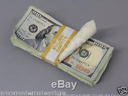 PROP MONEY USED LOOK New Style ONE MILLION Blank Fillers for Movie, TV, Videos