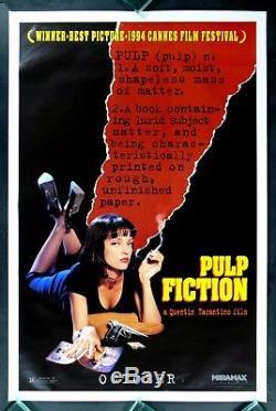 PULP FICTION CineMasterpieces DICTIONARY ADVANCE ORIGINAL MOVIE POSTER 1994