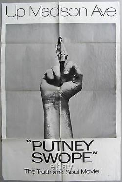 PUTNEY SWOPE Original Movie One Sheet, VERY GOOD Condition, 1969