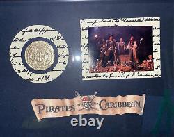 Pirates of the Caribbean Screen Used Treasure Coin Custom Display